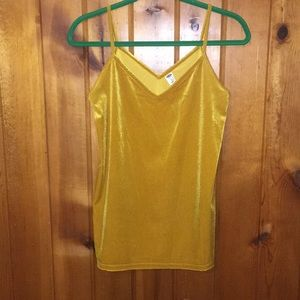 Tops - Golden Yellow Velvet Tank